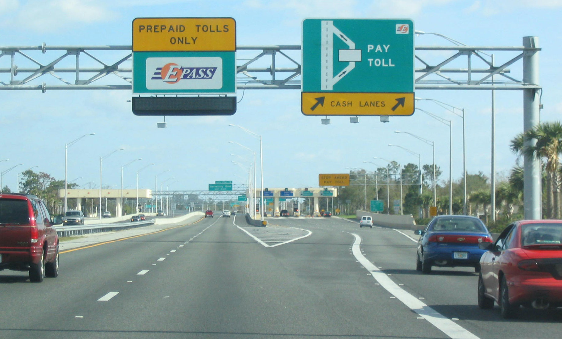 Carry cash for tolls